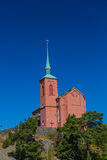 Church of Nynashamn, Stockholm, Sweden. 03.08.2016 Nynäshamn Sweden`s Nynäshamn. - A port city in Sweden, located in Stockholm county on the southern tip of royalty free stock photos