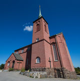 Church of Nynashamn, Stockholm, Sweden. 03.08.2016 Nynäshamn Sweden`s Nynäshamn. - A port city in Sweden, located in Stockholm county on the southern tip of Royalty Free Stock Photo