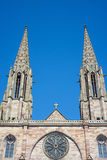 Church in Obernai, Alsace, France Stock Images