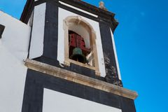 A church in Obidos, Portugal. Obidos is a medieval town inside w Stock Image