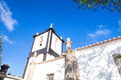 A church in Obidos, Portugal. Obidos is a medieval town inside w Royalty Free Stock Photography