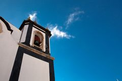 A church in Obidos, Portugal. Obidos is a medieval town inside w Stock Photography