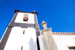 A church in Obidos, Portugal. Obidos is a medieval town inside w Stock Photos