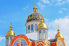 Church in Obolon district, Kyiv Royalty Free Stock Images