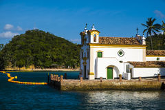 Free Church Of Our Lady Of Loreto Located On The Island Of The Frades Royalty Free Stock Image - 84640756