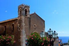 Free Church Of San Agostino, Taormina, Sicily Stock Images - 45257394