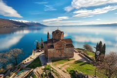 Free Church Of St. John The Theologian -at Kaneo, Ohrid, Macedonia Stock Photos - 114501283