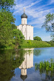 Church Of The Intercession Of The Holy Virgin On The Nerl River On The Bright Summer Day. Stock Image