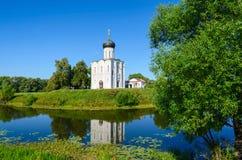Church Of The Intercession On The Nerl Near The Village Bogolubovo, Vladimir Region, Russia Royalty Free Stock Photo