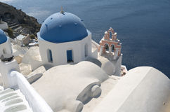 Church in Oia. Stock Photography