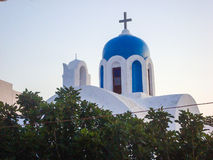 Church in Oia Santorini Royalty Free Stock Photos