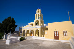 Church in Oia town on Santorini, Greece Stock Images