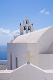 Church in Oia town on Santorini, Greece Royalty Free Stock Photography