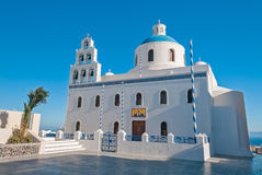 Church in Oia town Stock Photography