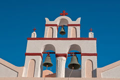 Church in Oia town Stock Image