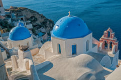 Church in Oia town Royalty Free Stock Image