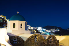 Church at Oia during twilight Stock Image