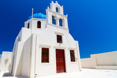 Church of Oia village at Santorini island Royalty Free Stock Photo