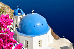 Church in Oia village Royalty Free Stock Image
