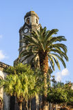 Church. Old church on Canary Island (Tenerife) with palm trees Stock Image