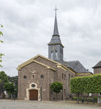 Church in the old centre of the village ohe and laak Royalty Free Stock Images