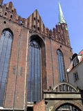 Church. Old Chrch in Poland Gdansk old town in skyblue beautiful day Stock Images