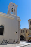 Church at the old city Rethymno, island of Crete Stock Images
