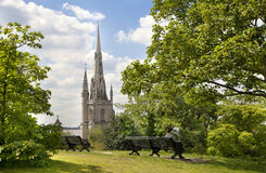 Church in Old English park south of London. Stock Images
