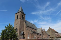 Church. Old church in Flanders village Stock Photo