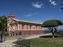 Church by the Old Fortress in Corfu town on the Greek Island of Corfu Royalty Free Stock Images