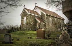 Church. An old mason church in St Andrews NB Stock Photos