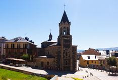 Church at  old part of Ponferrada Stock Images