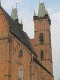 Church. Old Roman Catholic Church in the Czech Republic with towers suitable for background royalty free stock photo