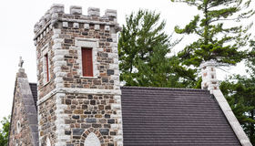 Church. Old church tower in Sutton, Ontario, Canada Stock Photo