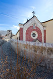 Church in the Old town of Aosta, Aosta Valle d`Aosta Italy Stock Photography