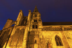 Church in old town of Auxerre Royalty Free Stock Image