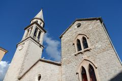 The Church in the Old Town of Budva, Montenegro Royalty Free Stock Image