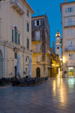 Church in old town corfu Royalty Free Stock Photos