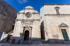 Church in old town Dubrovnik Royalty Free Stock Image
