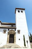 Church in the old town of Granada royalty free stock photos