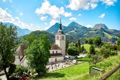 Church of Gruyere Stock Images