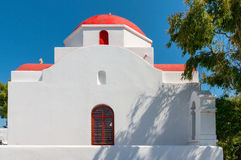 Church in Old Town  Mykonos Stock Image