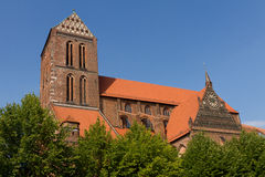 Church in old town Wismar in Germany Stock Photo