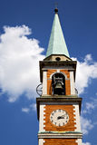 church   olgiate olona   italy the old   clock   bell tower Royalty Free Stock Photos