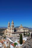Church, Olvera, Andalusia, Spain. Royalty Free Stock Photos