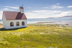 Church On Coast Of Isafjardardjup Fjord - Iceland. Royalty Free Stock Photos