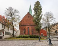 Saint Jacob Catholic church in old Riga city, Latvia Stock Image