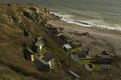 Church Ope Cove,  looking down on beach huts and bay Stock Photography