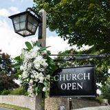 Church Open - Church Sign Royalty Free Stock Photo