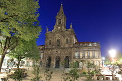 Church in Oporto at night Stock Photography